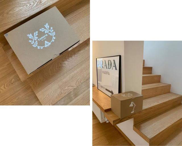 montaggio lampada da scrivania legno e metallo