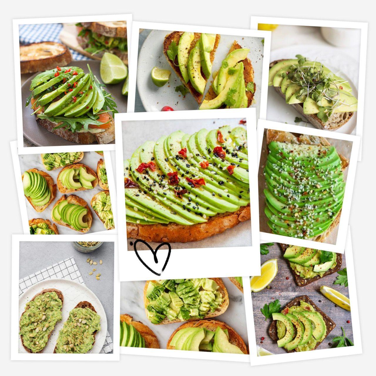Avocado collage di ricette
