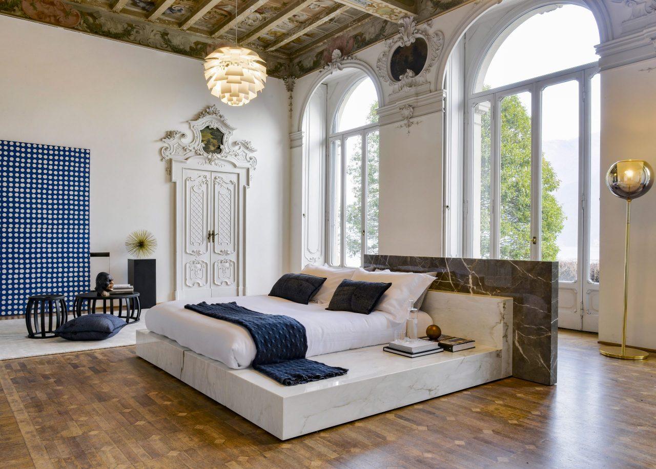 letto in marmo