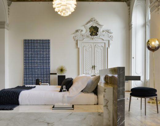 sistema letto in marmo