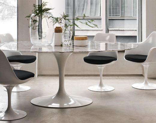 knoll sedia Tulip e tavolo pedestal