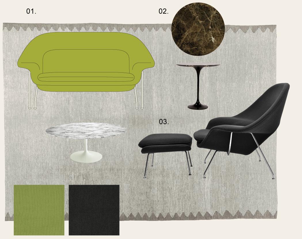 mood board Knoll Saarinen