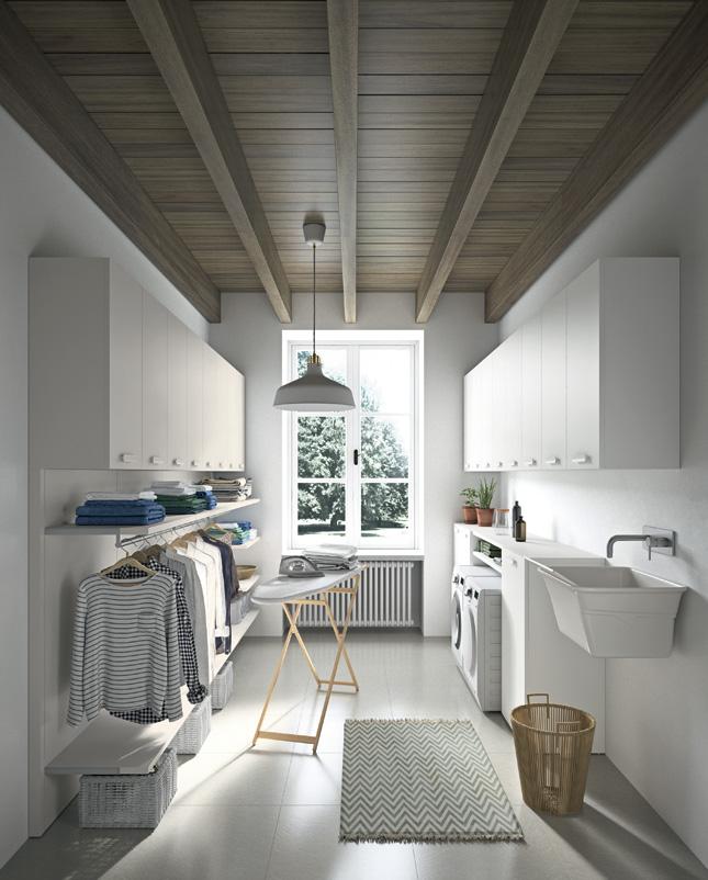 lavanderia bella e ordinata