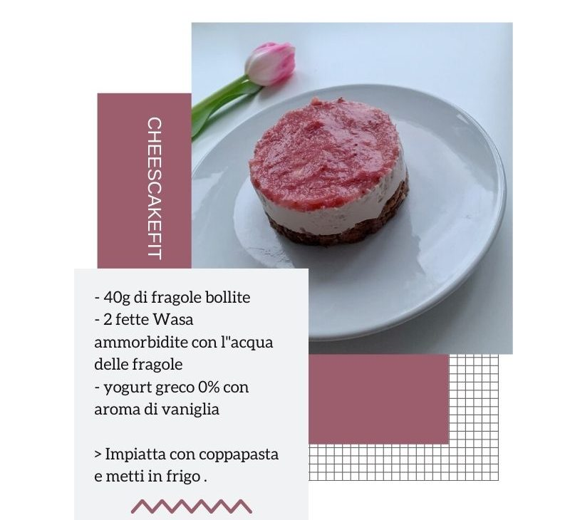 Fit cheesecake alle fragole.
